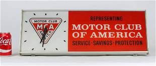 Motor Club Of America Clock