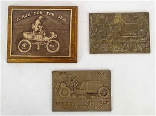 "(3) C. 1970 ""A Run For The Sea"" Bronze Plaques"