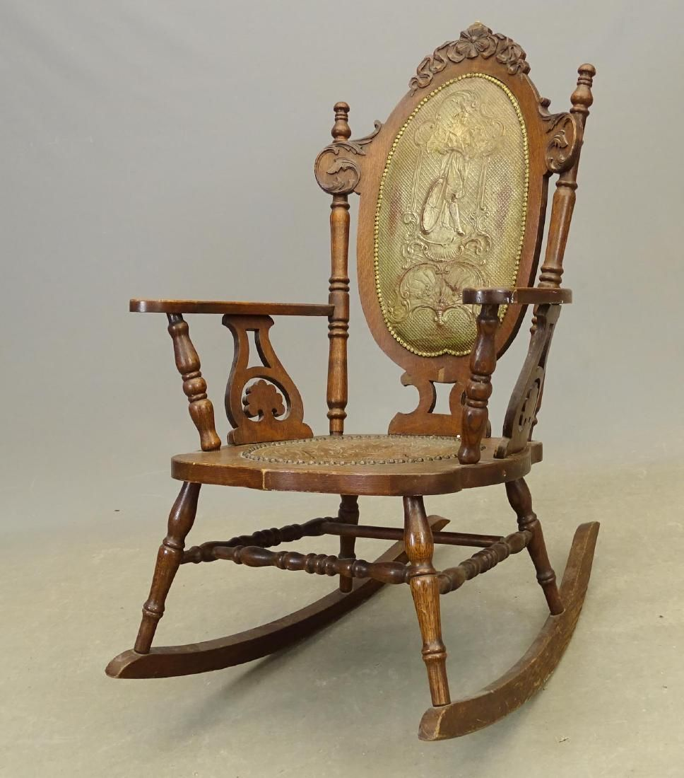 Victorian Rocking Chair With Bicycle Design