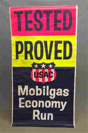 C. 1950's-60's Mobil Banner