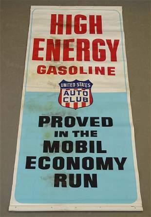 C. 1950's-60's Gasoline Banner