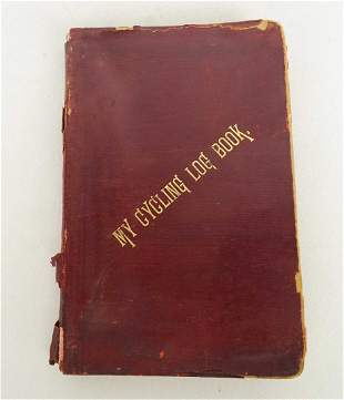Early Cycling Log Book