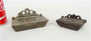 Victorian Cast Iron Match Safes