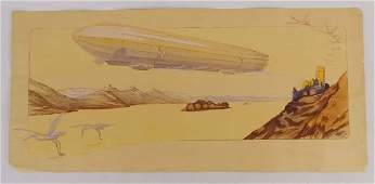 Zeppelin Vintage Print Gamy-Montaut