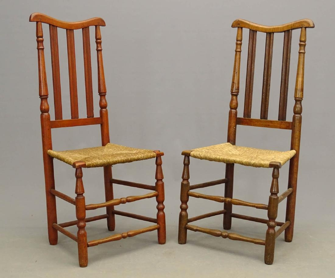 18th c. Banister Back Chairs