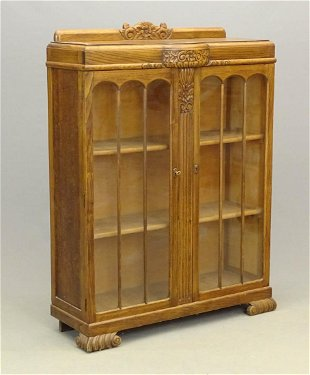 Art Deco Oak Bookcase