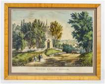 19th c Currier  Ives Print