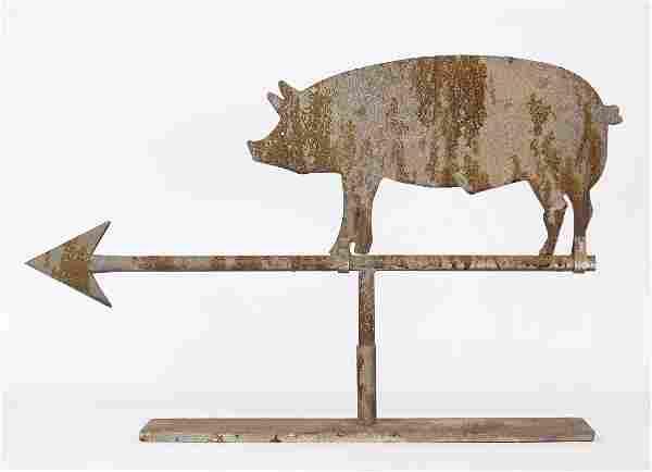 Sheet Metal Pig Weathervane