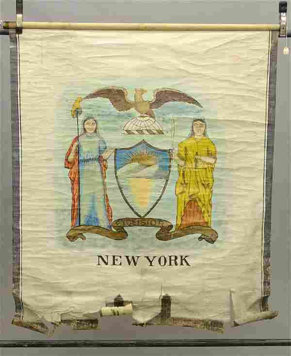 New York State Seal Antique Banner