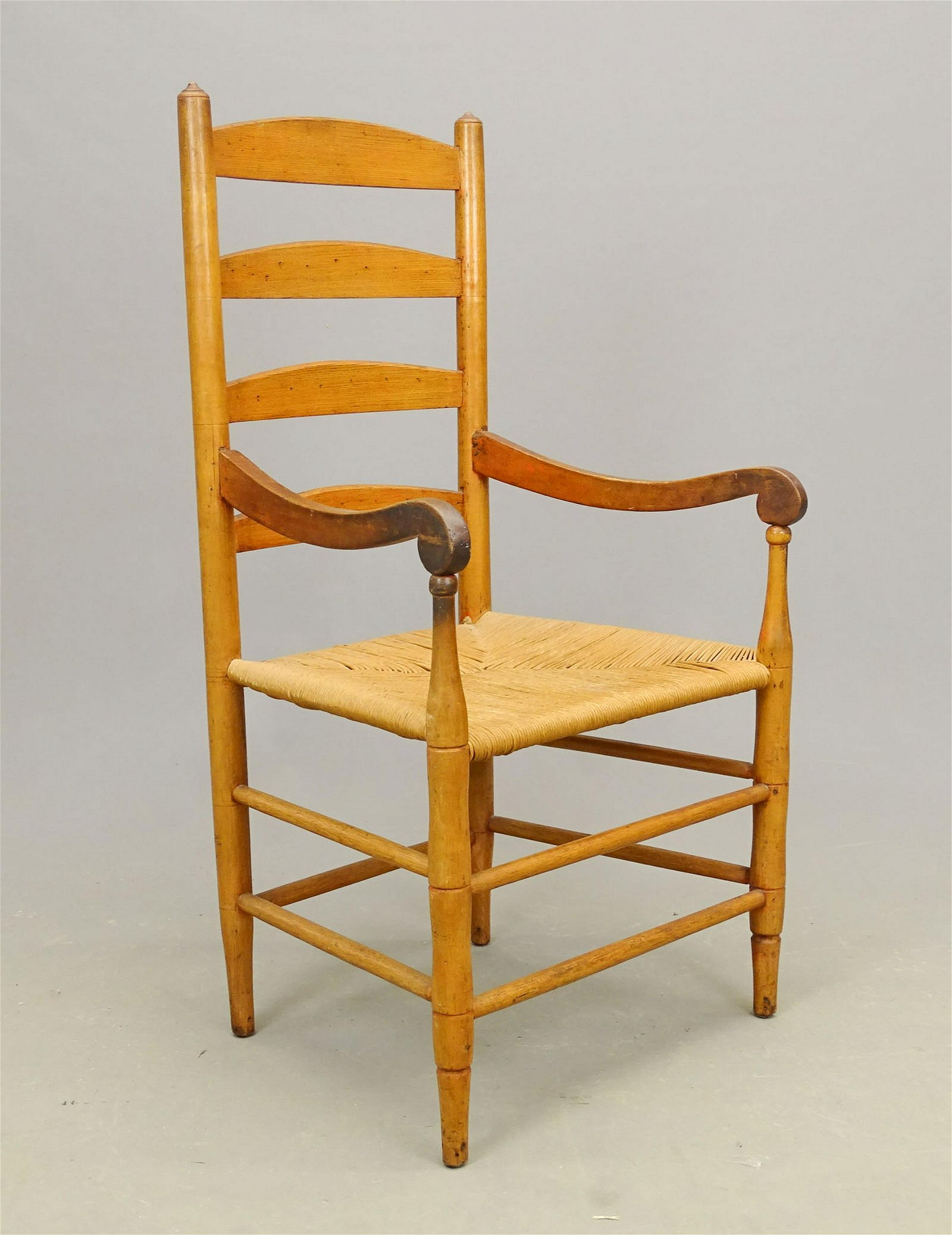 19th c. Ladderback Armchair