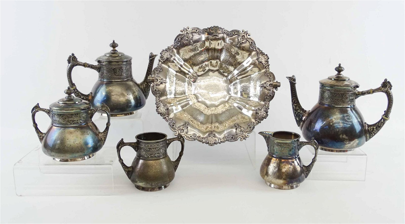 Pairpoint Silver Plate Tea Set