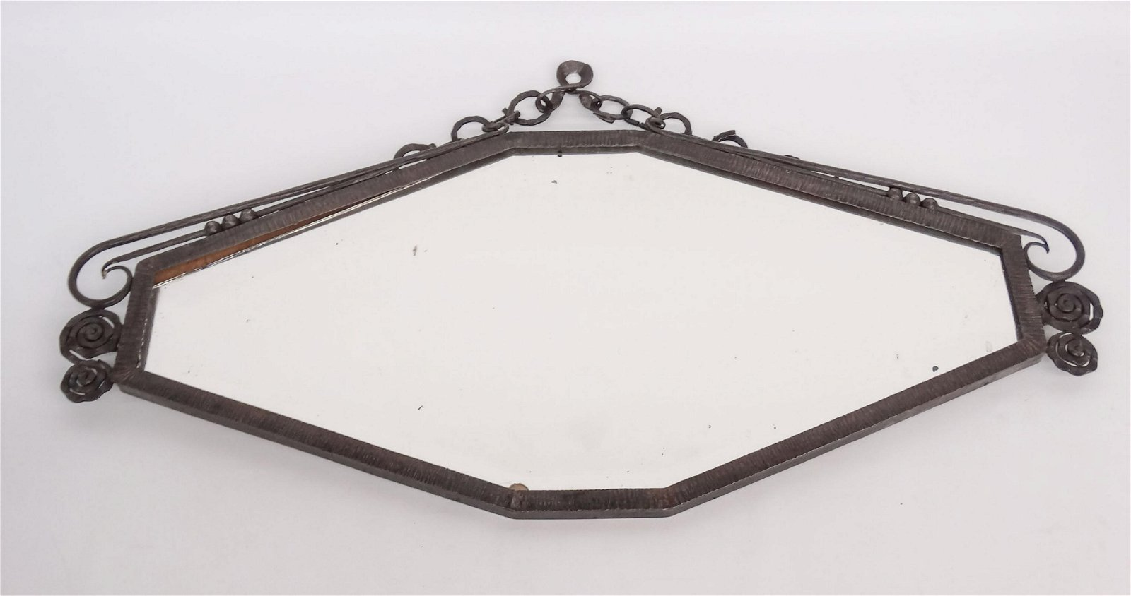 Art Deco Style Metal Wall Mirror