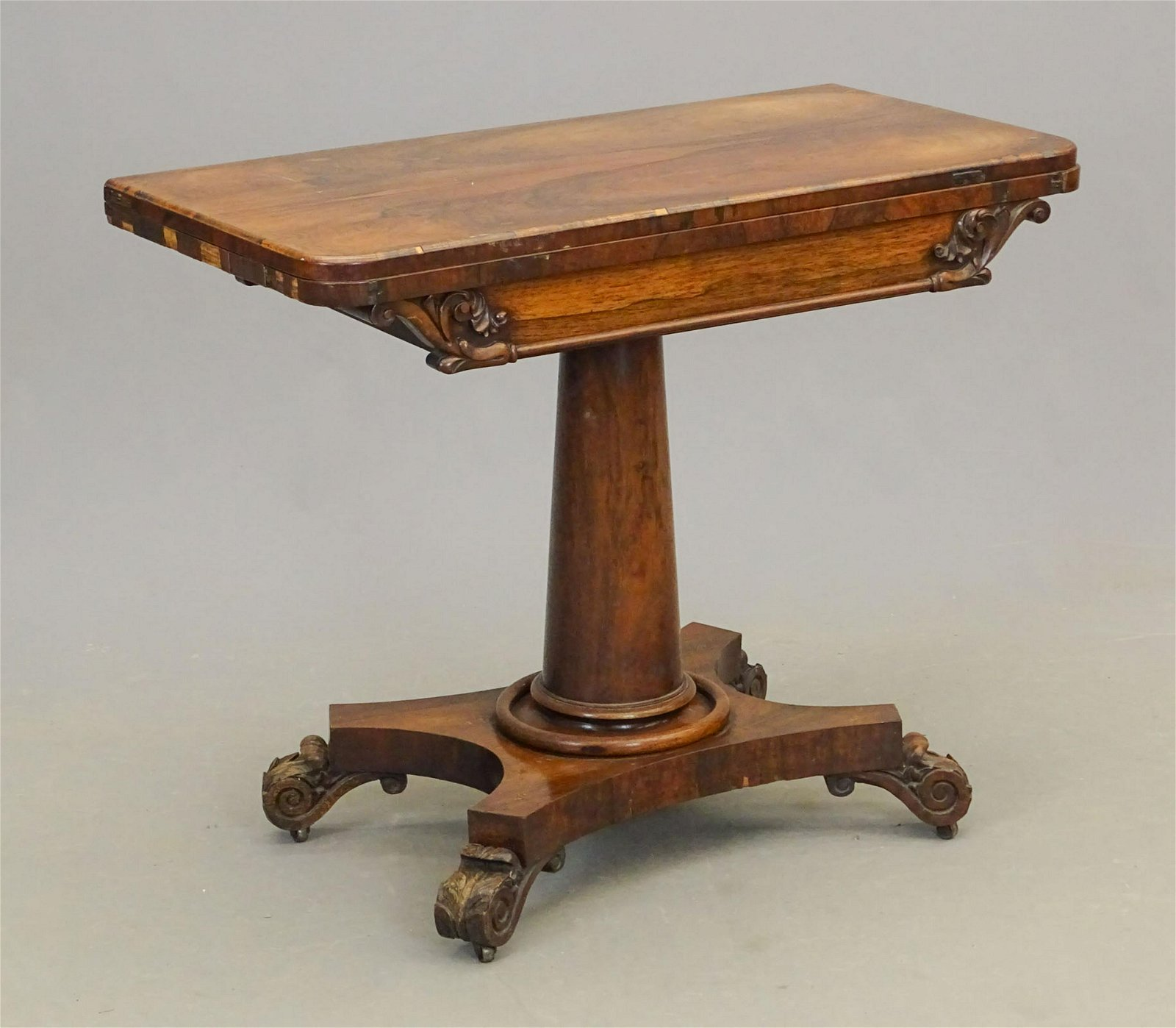 19th c. Rosewood Card Table