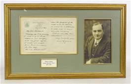 Enrico Caruso Autographed Letter