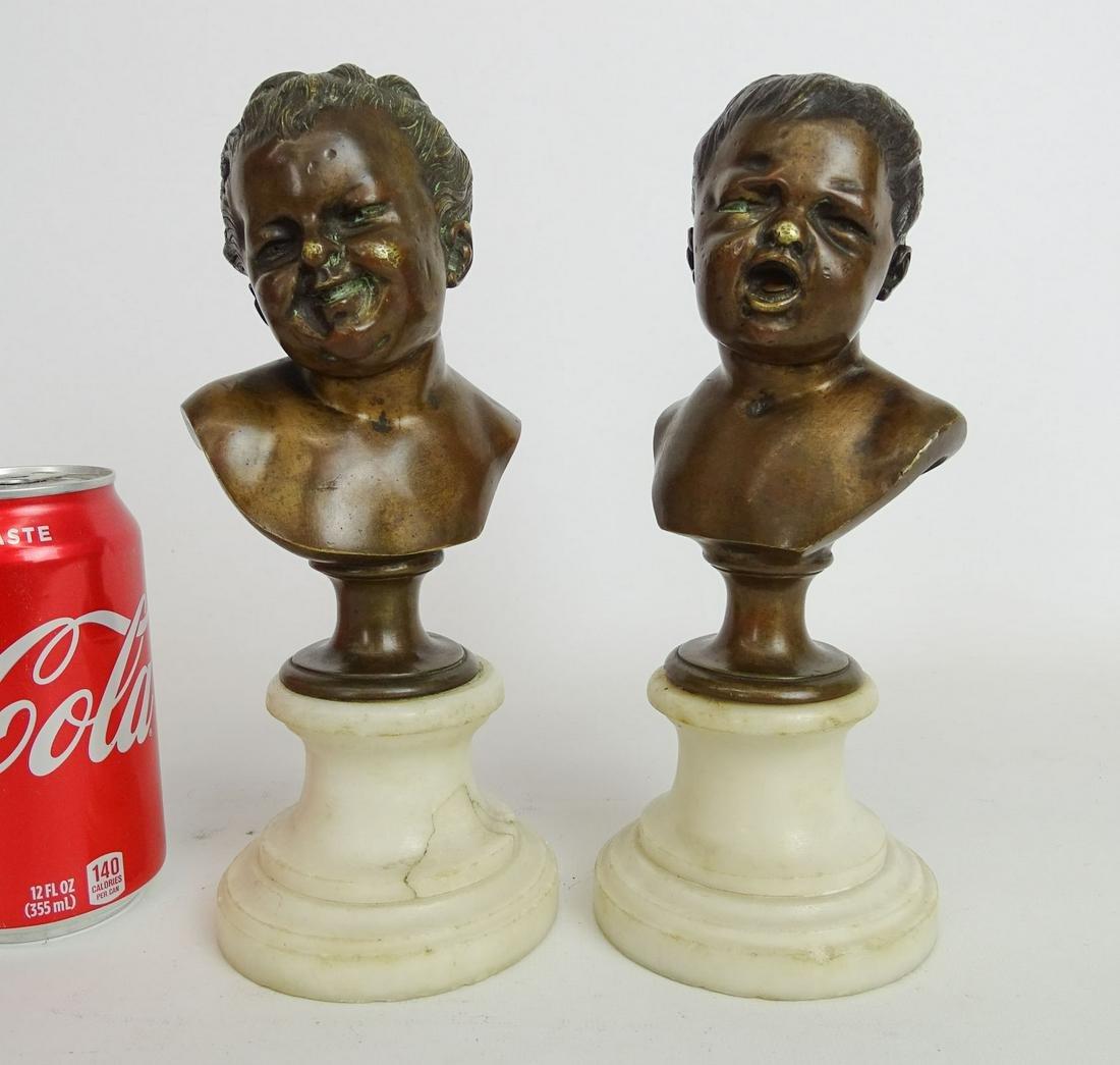 Pair Bronze Sculptures