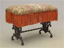 Vintage Wrought Iron Footstool