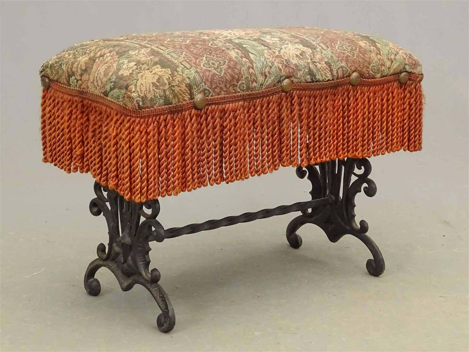 Vintage Wrought Iron Footstool