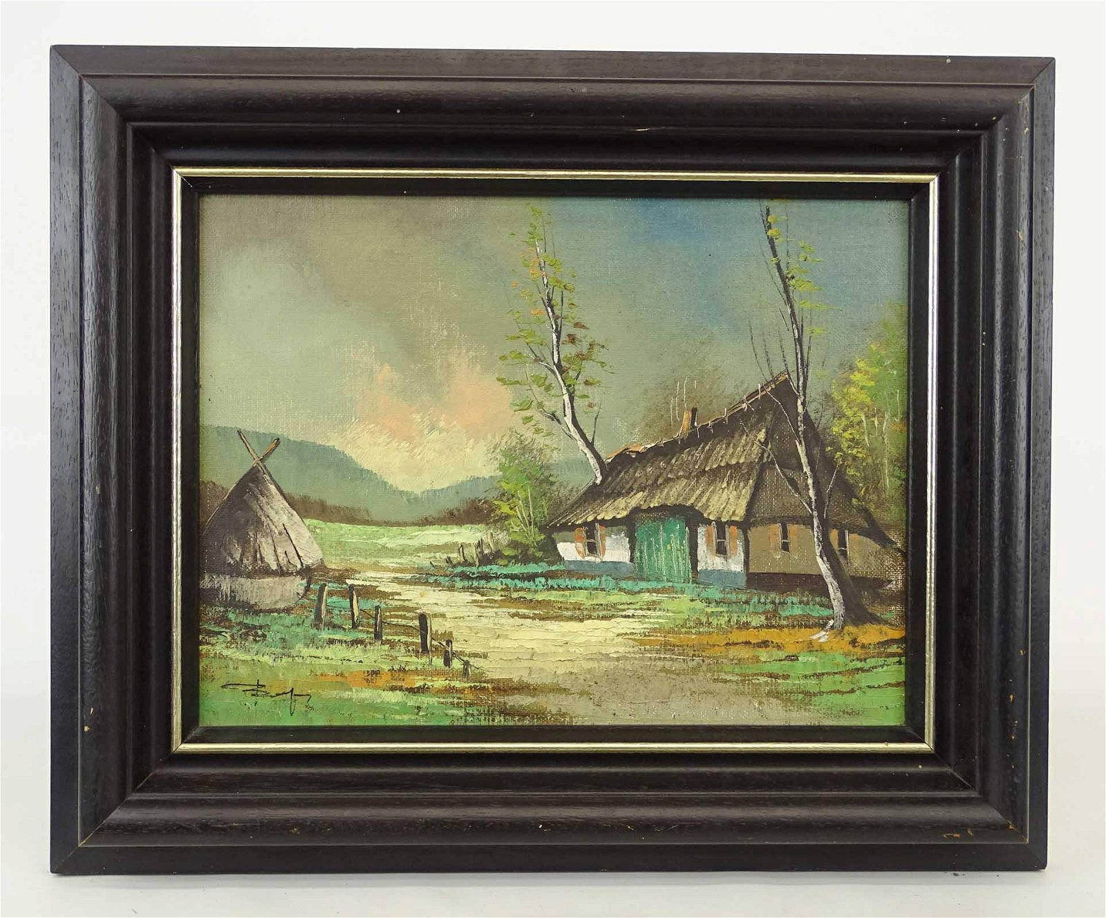 Continental School, Landscape With Cottage