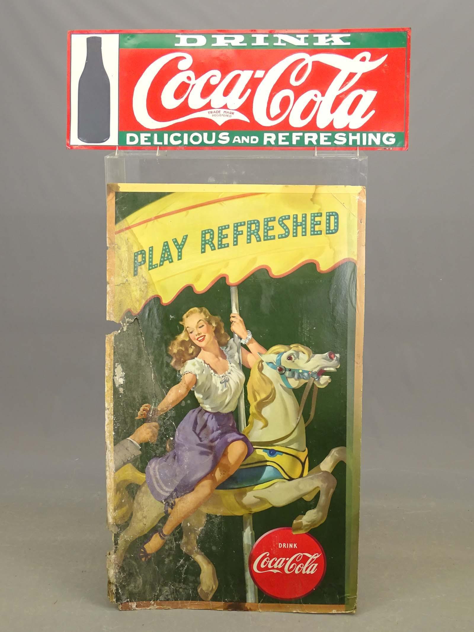 Coca Cola Cardboard Advertising