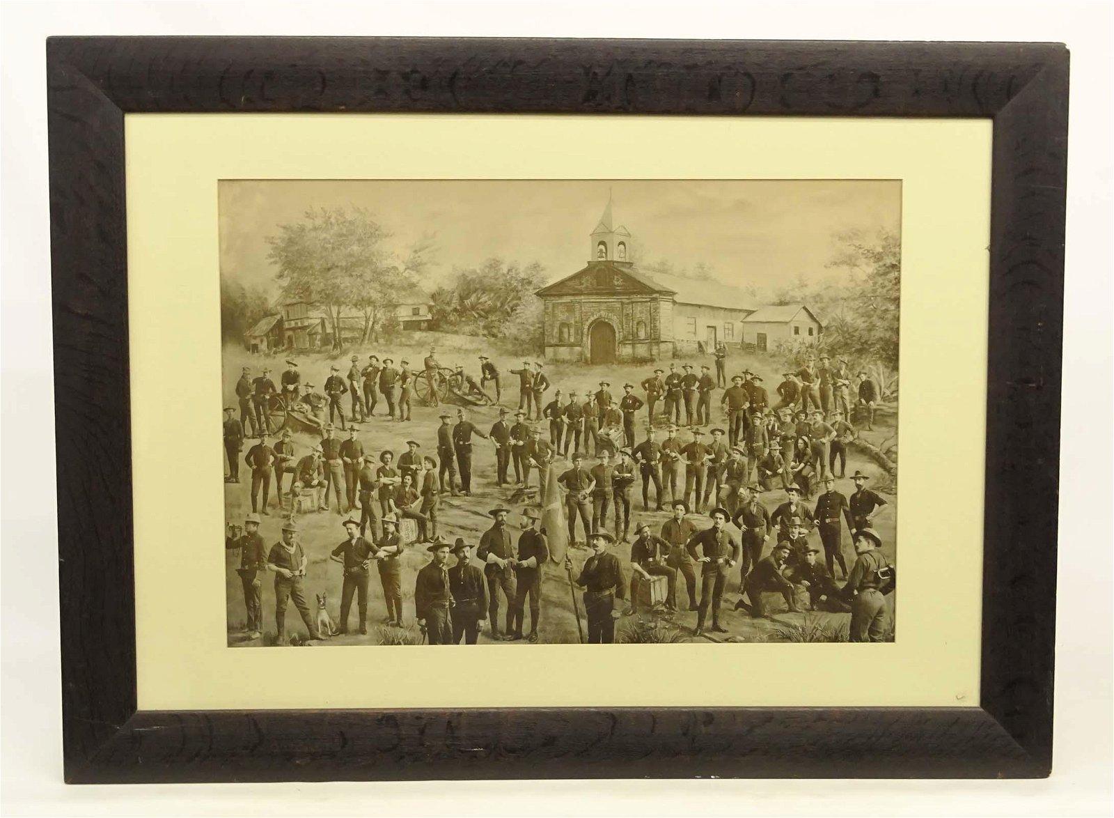 Spanish American War Photo Print Collage