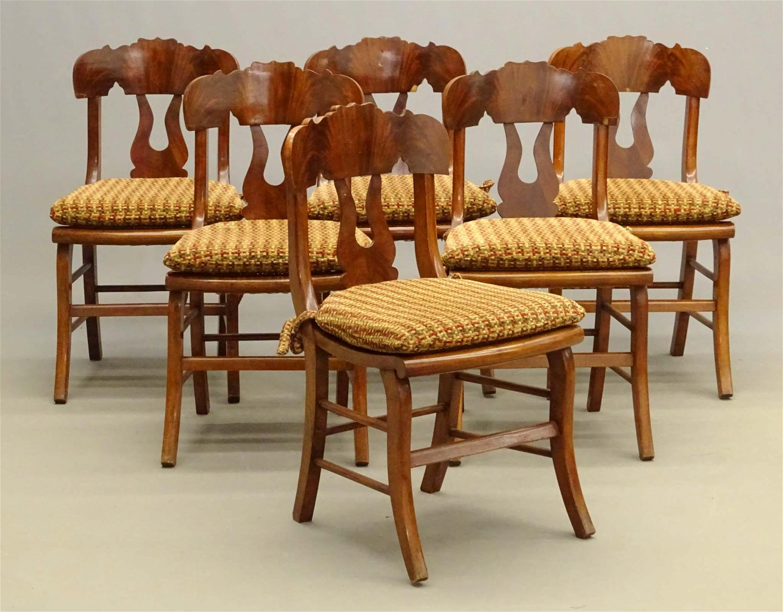 Set Of (6) 19th c. Chairs
