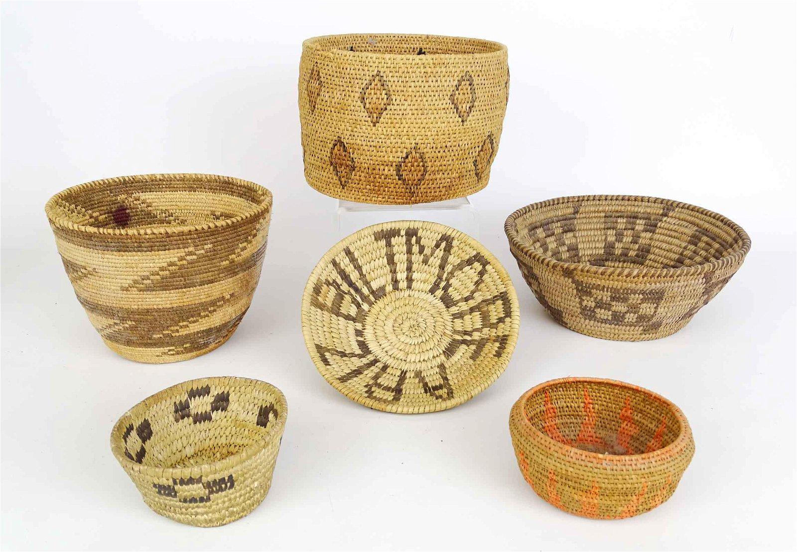 Native American Basket Lot
