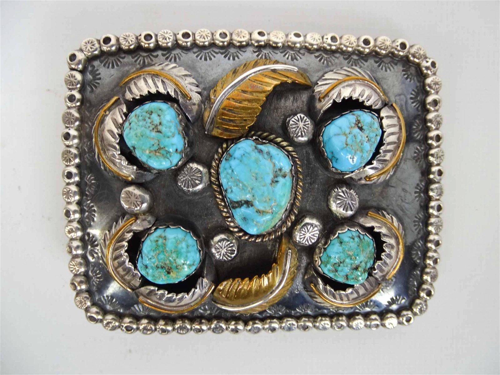 Silver & Turquoise Belt Bucket