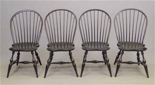 Set Of (4) Benchmade Windsor Chairs
