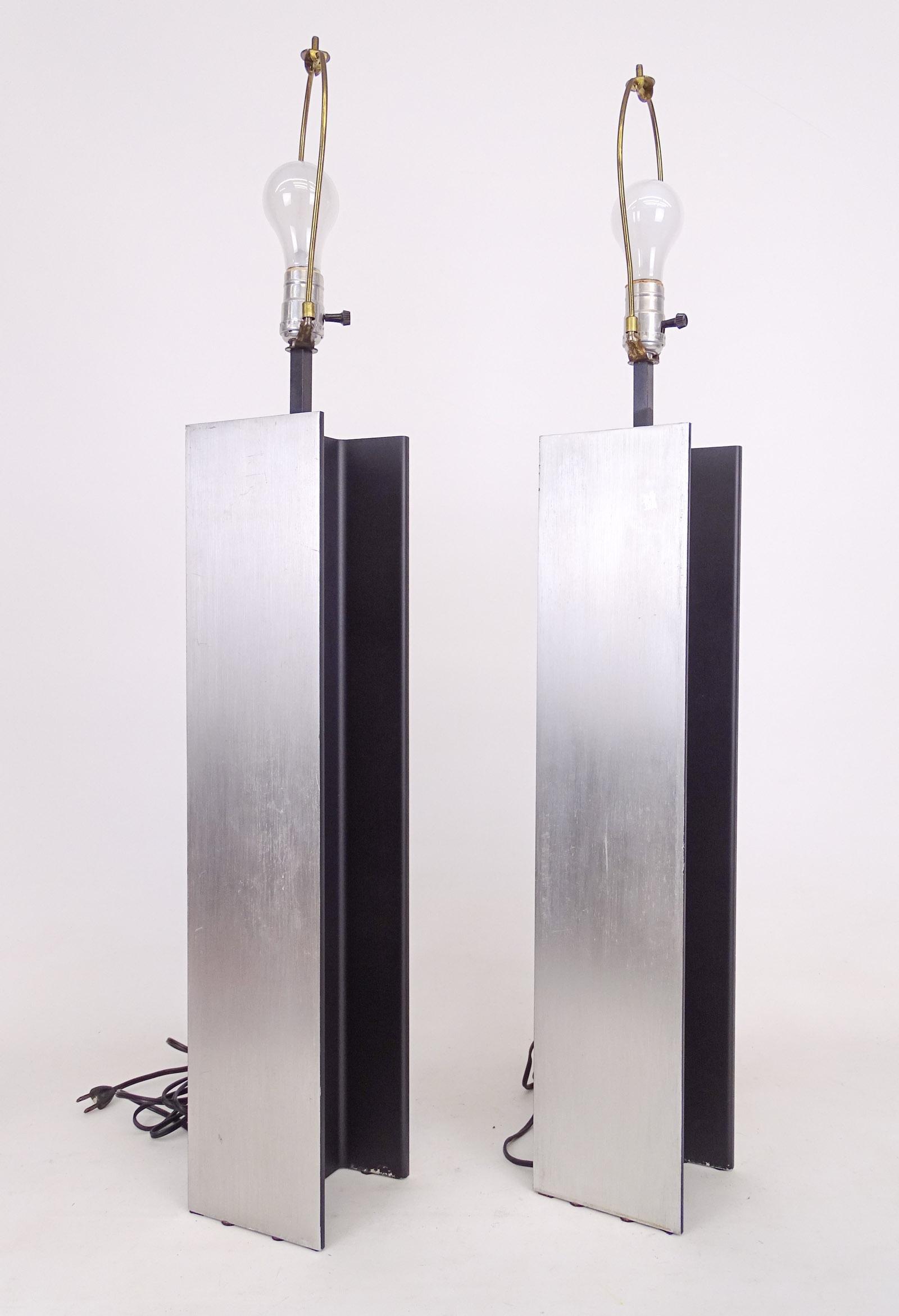 Pair Laurel Mid Century Lamps