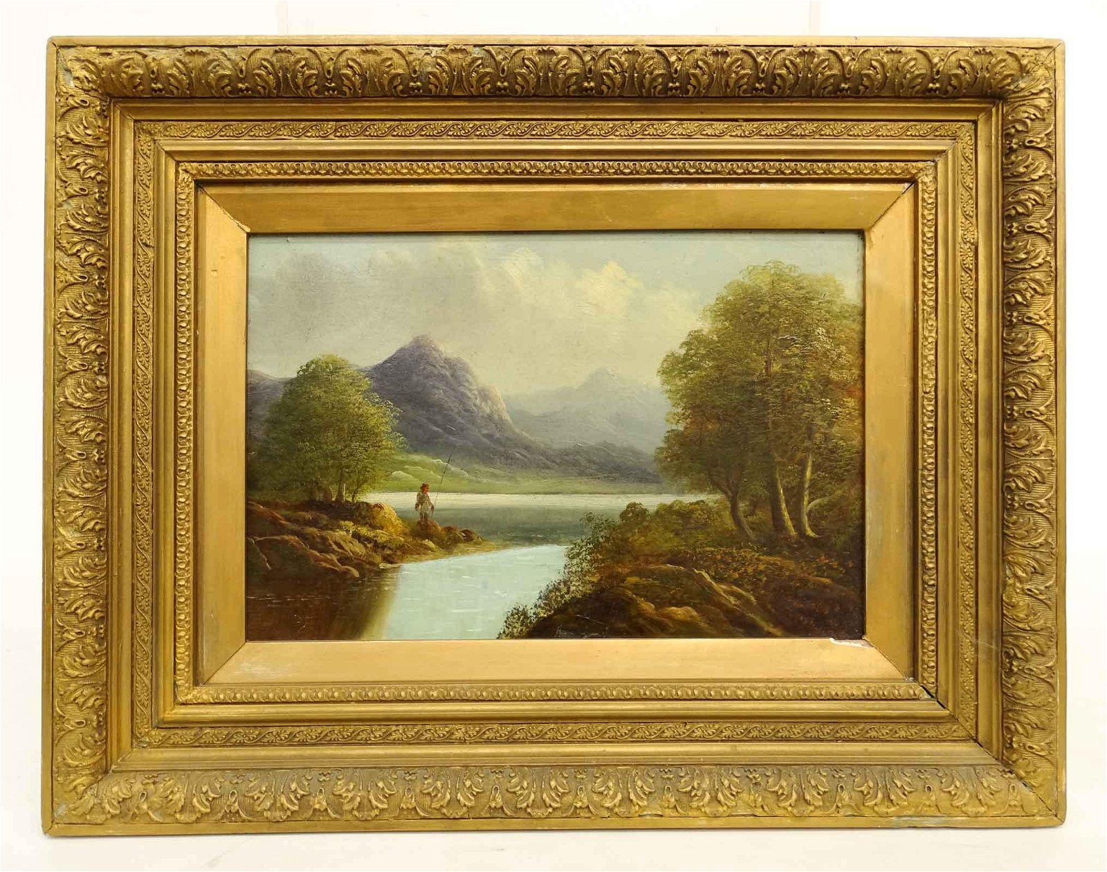 Hudson River School, Landscape With Figure