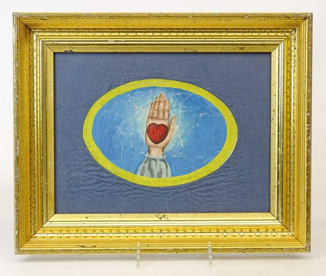 Early Framed Odd Fellows Artwork