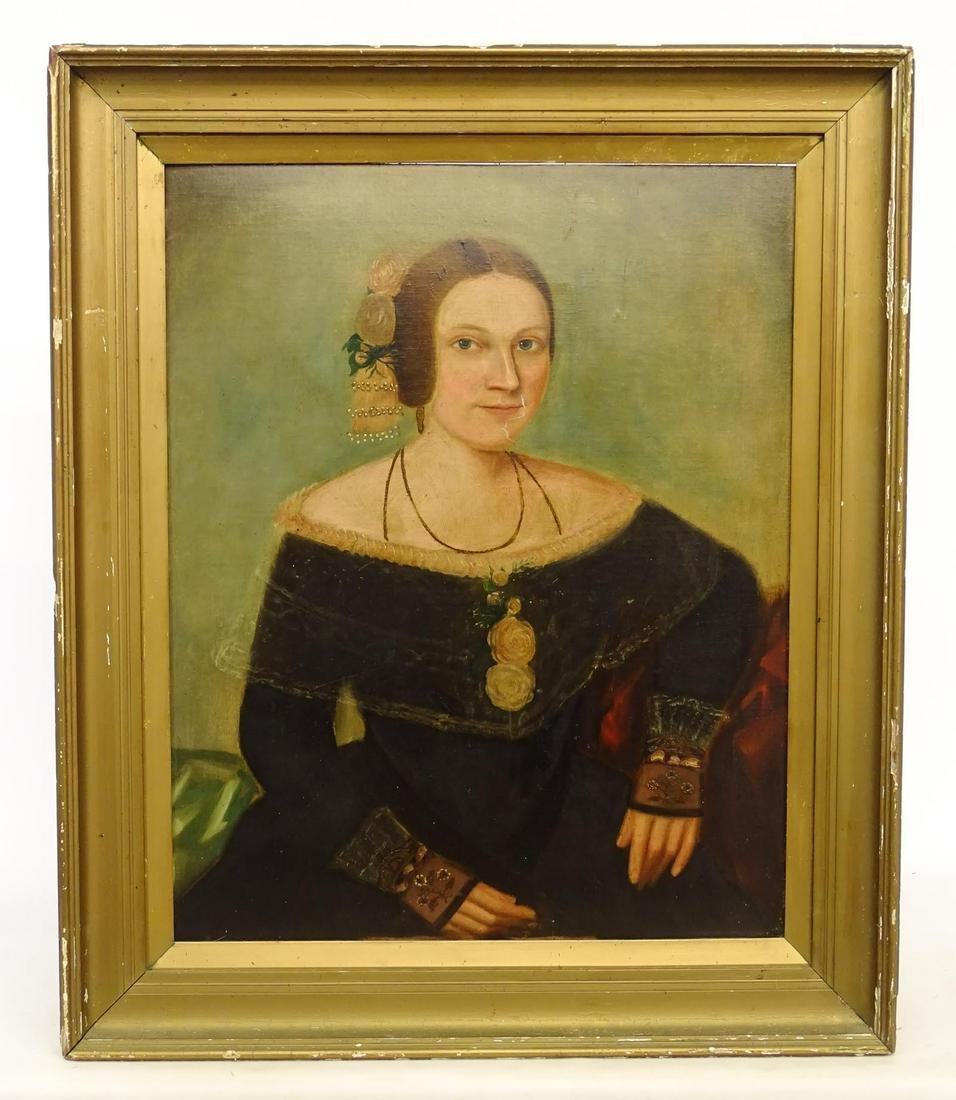 19th c. Portrait Of A Woman