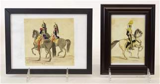 Watercolors Attributed To Charles Shoettel