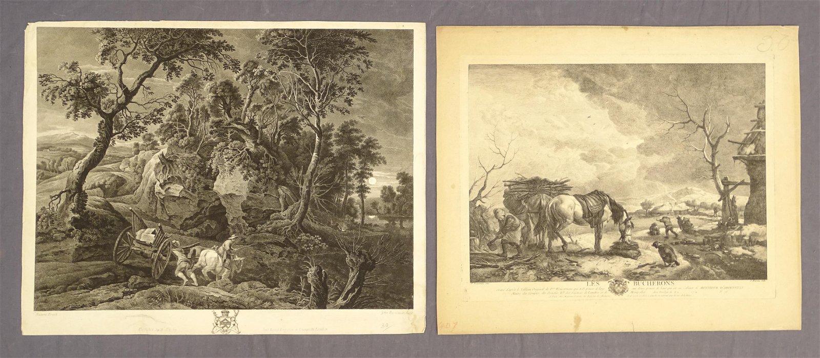 Old Master Landscape Prints (2)