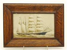 Painting, Seascape With Clipper Ship