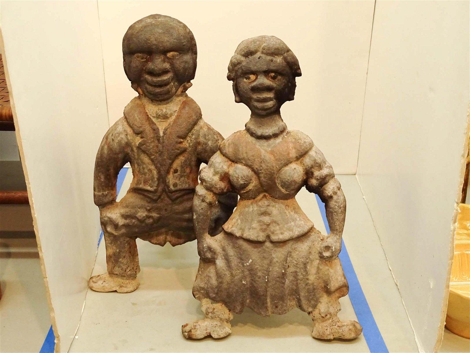 Pair Figural Andirons
