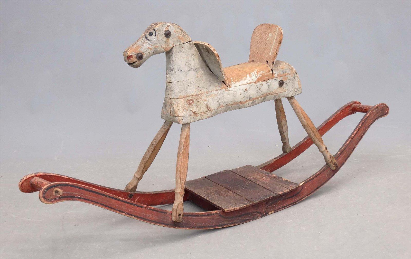 19th c. Folk Art Rocking Horse
