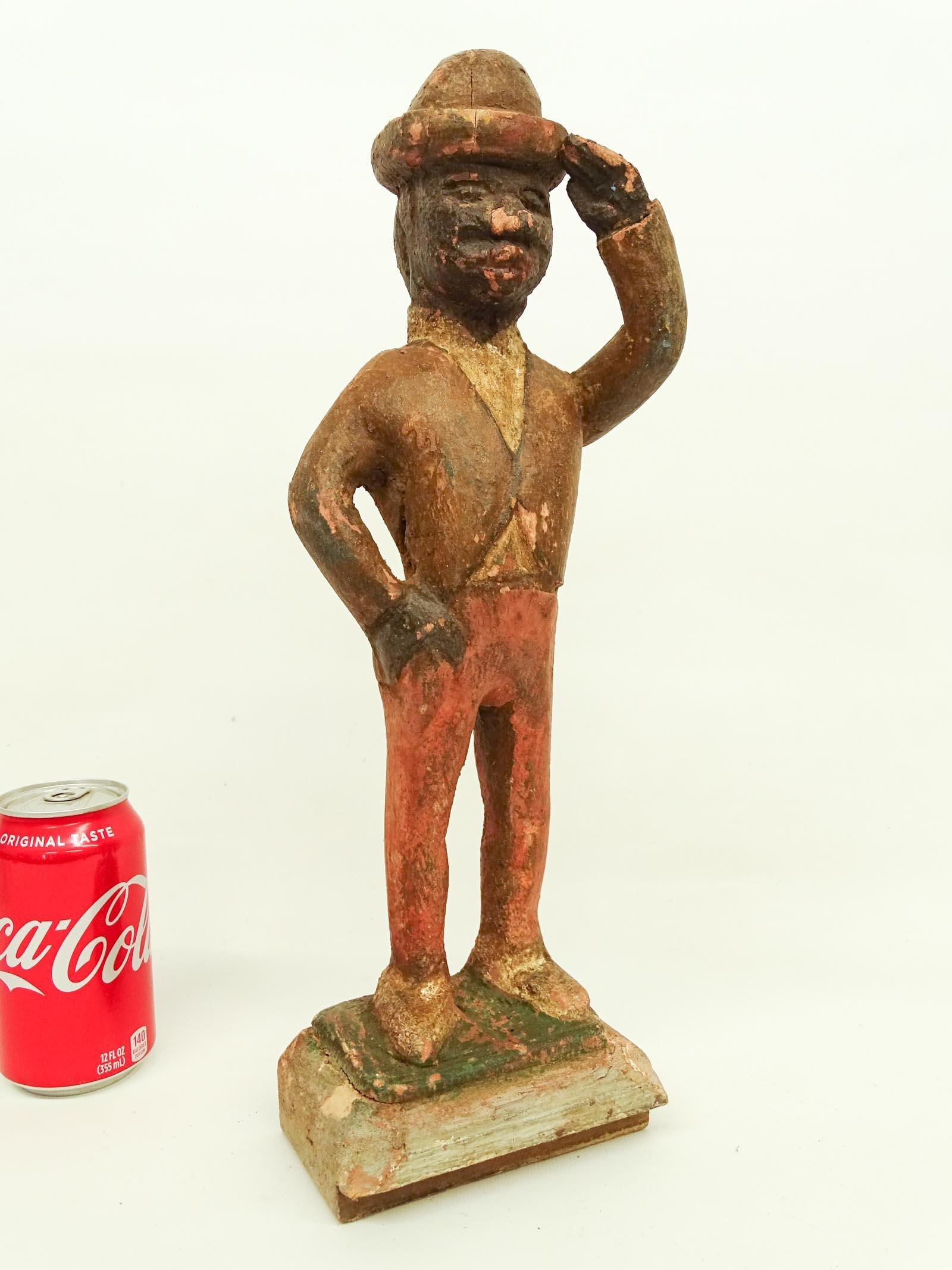 Folk Art Carved Wooden Figure
