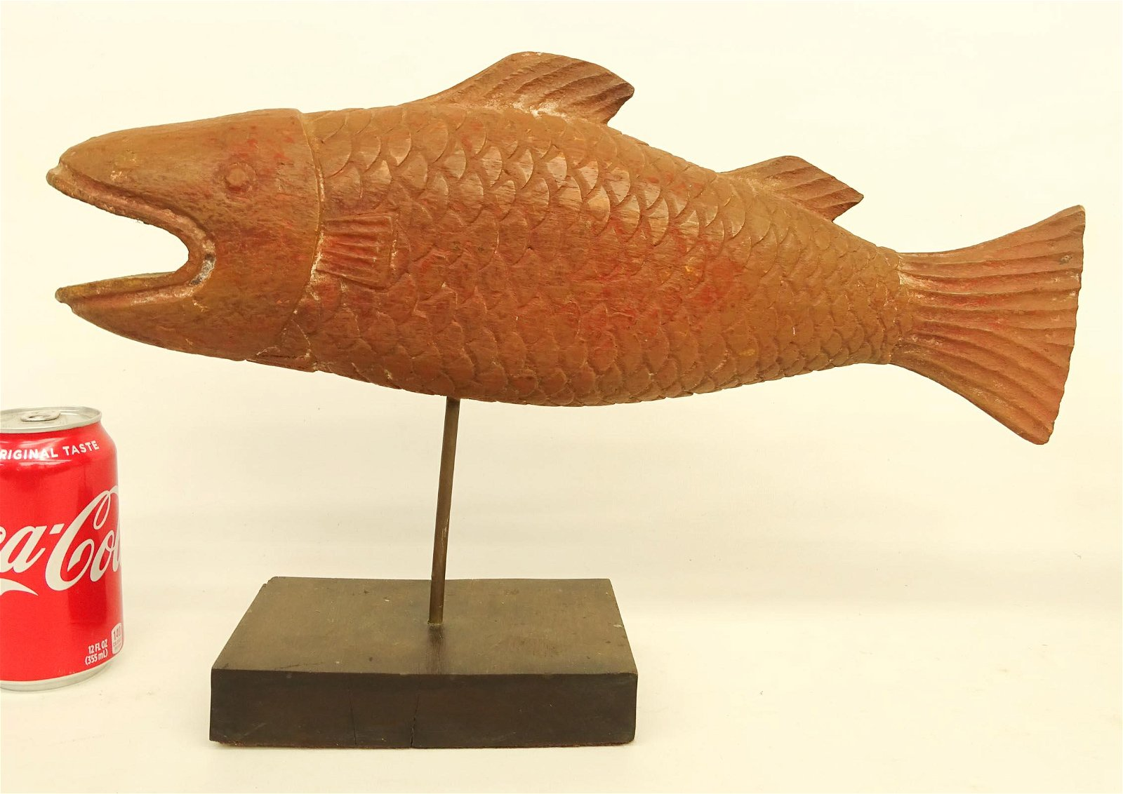 Folk Art Wooden Carved Fish