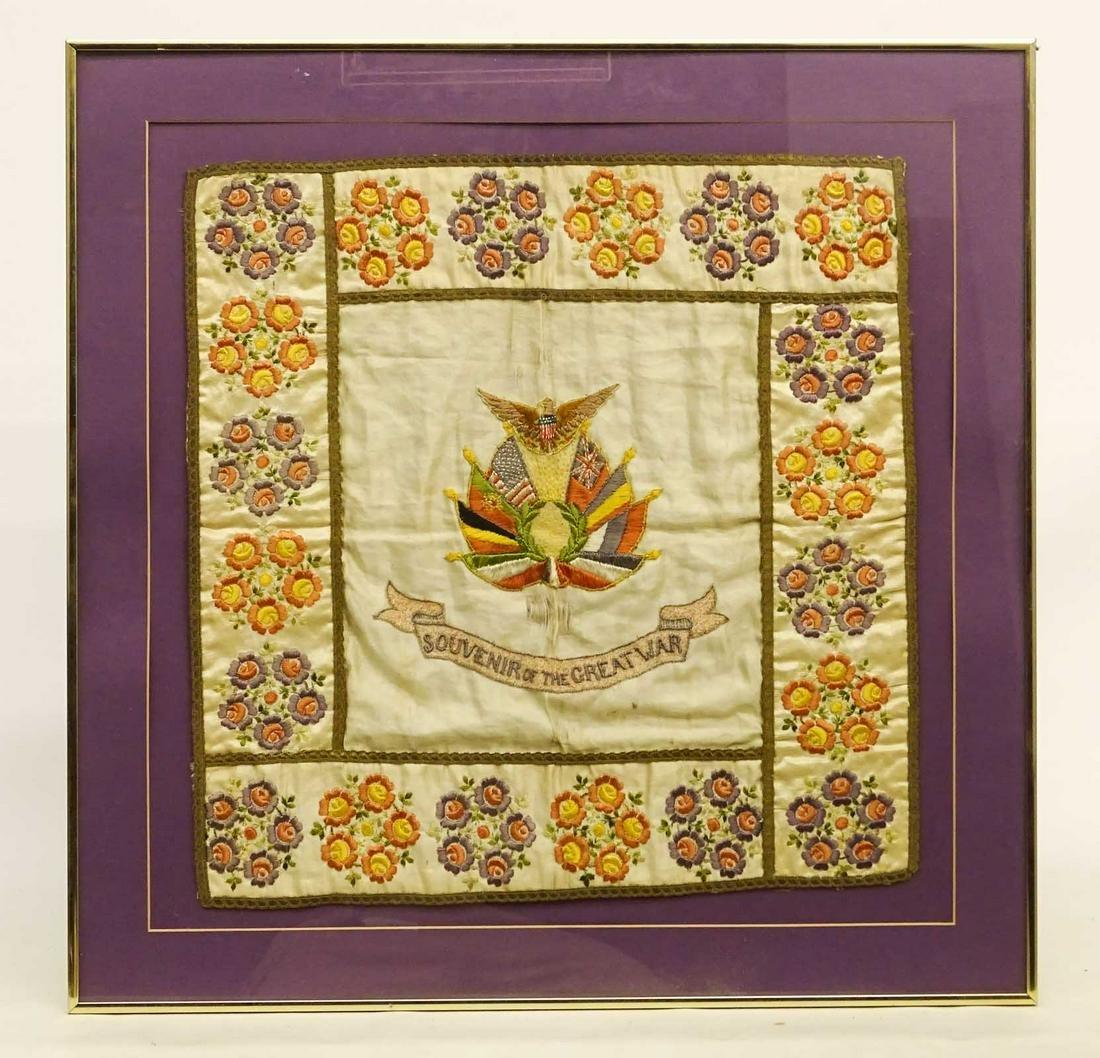 WWI Framed Textile