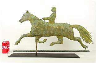 Horse And Rider Weathervane Signed Jewell