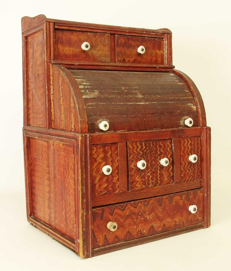 19th c. Folk Art Table Top Desk