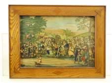 19th c. Continental School, Village Scene