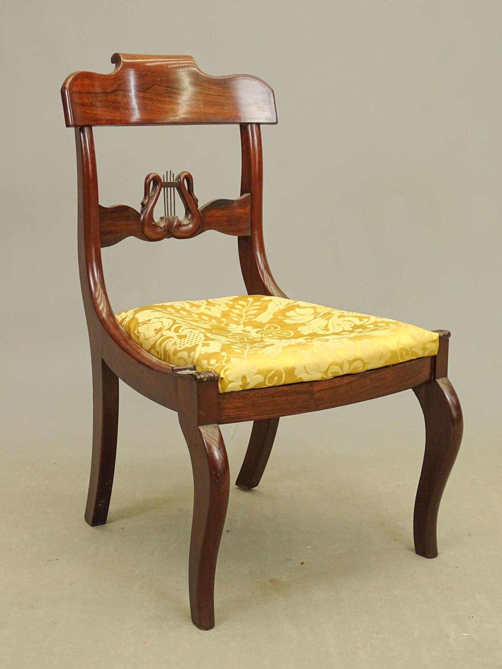 19th c. New York Empire Side Chair
