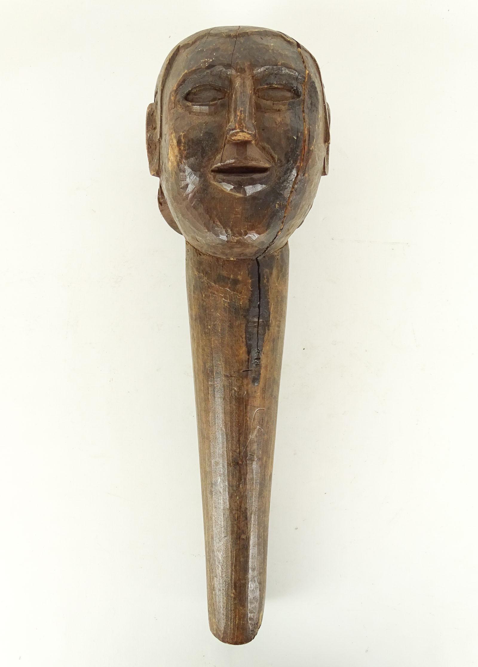 Folk Art Carved Head