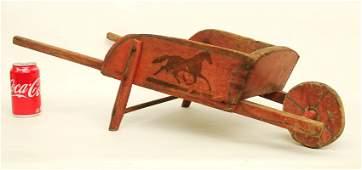 Child's Paint Decorated Wheelbarrow