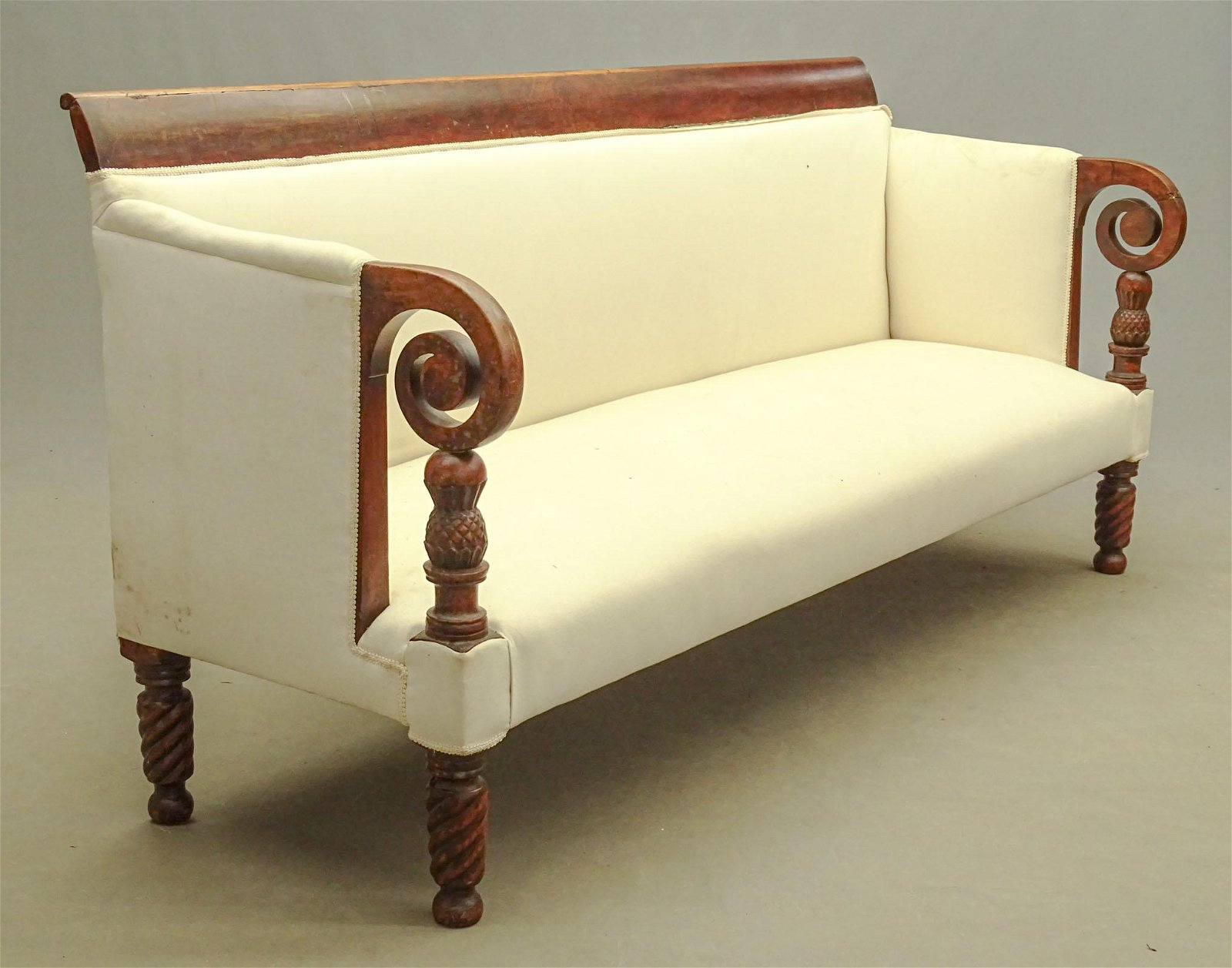 19th c. Mahogany Sofa
