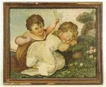 19th c. Watercolor on Silk
