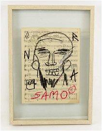 Attributed to Jean-Michel Basquiat (1960-1988)