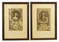 Portraits of William and Mary (Pair)